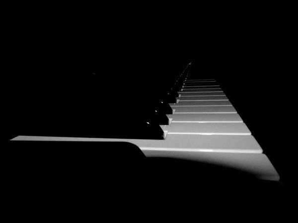 Piano keys in the dark B/W Abstract Abstract Photography B/w B/w Collection B/w Daily B/W Photography B/w Series Black Blackandwhite Dark Darkness Darkness And Light Diminishing Perspective Eye Em Scotland Keyboard Keys Musical Instruments Musician Musicians Piano Piano Keys Piano Player Scotland Uk White