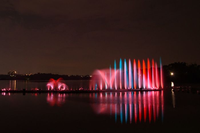 Water Dance Water Popular Music Concert Nightlife Arts Culture And Entertainment Multi Colored Celebration Red Event