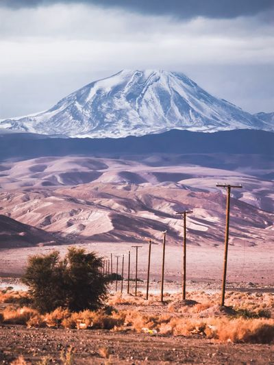 Montains    Wilderness Mountain Tranquil Scene Nature Landscape Outdoors Day Sky No People Snow Snowcapped Mountain Desert Atacama Desert Dry Fresh On Market 2017