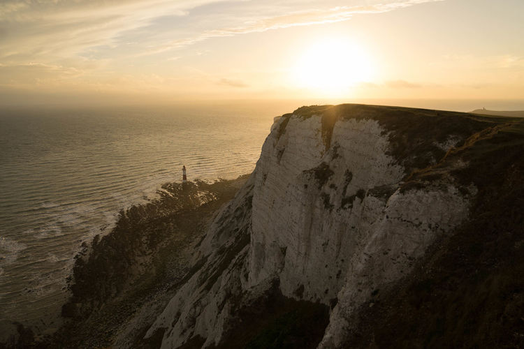 Awe Beach Beachyhead Beauty In Nature Cliff Cliffs Englishchannel Landscape Nature Ocean Sky Sunset Sunset_collection Travel Trip Yellow