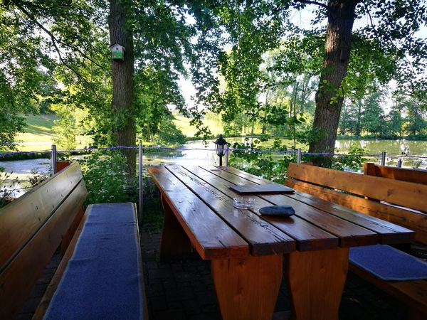 💚 Böllstrichseen 💚 Biergarten Fishfarm Fishing Pond 💚 Park - Man Made Space Outdoors No People Beauty In Nature Nature Water Tree Backgrounds No Filter, No Edit, Just Photography No Edit/no Filter EyeEm Best Shots Smartphonephotography Eye4photography  Exceptional Photographs EyEmNewHere Good Evening Guten Morgen Chair The Great Outdoors - 2017 EyeEm Awards