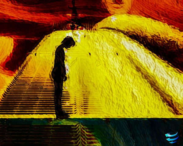 Yellow Tunnel Full Length Illuminated Only Men Adults Only People One Man Only Hello Sun Various Energy Sources Golden Gate Bridge Silhouette Mythology Hurlements Nox Day Open Edit For Everyone All Is Imperfect...all Is Unfinished Darkness And Light Blue Wave Passez Une Bonne Journée! A Un De Ces 4