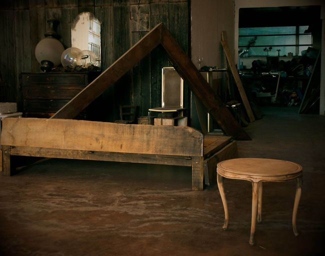 Indoors  Wood - Material Burnedwood No People Retro Styled Old-fashioned Still Life Scenary Half And Half Trash Is Treasured Hidden Places Chair Abandoned Architecture Day Valle Puglia Table Bedroom Bed Geometric Shape Wood Grain