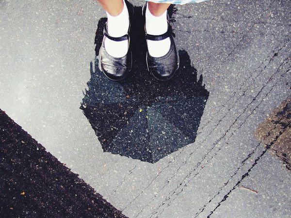 Hello EyeEm Best Umbrella Reflection EyeEm Best Shots Tadaa Community Street Blue Embrace Urban Life
