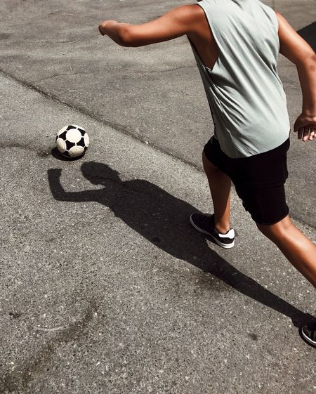 Shadow Sport Soccer Ball Soccer Ball Sunlight Low Section Playing One Person Leisure Activity Lifestyles Skill  People Men Day Outdoors Child Human Body Part Sports Clothing EyeEm Selects Shotoniphone7plus מייאייפון7 IPhone7Plus מייספורט מייגיאקטן The Week On EyeEm Investing In Quality Of Life Investing In Quality Of Life 10 A New Perspective On Life