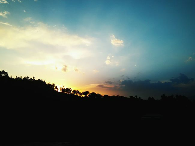 the evening that knows no dawn Evening Clouds Colorful Serenity Silhouette Sky Landscape The Great Outdoors - 2018 EyeEm Awards