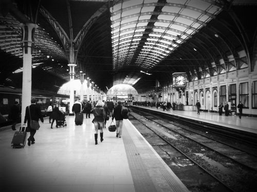 Commute My Daily Commute Black And White Monochrome London LONDON❤