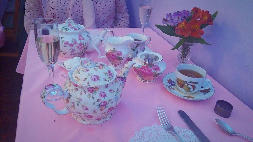 Tea Party Tea Lumpsugar My Photography Tea Time Friends Having Fun A Thyme For Tea Flowers On Table Birthday Celebration Champagne Glasses Tea Cups Tea Pots