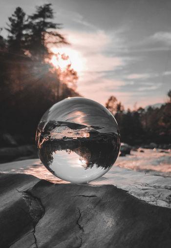 Lensball photography at riverside