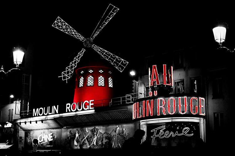 Urban Street Streetphotography Black And White Black & White Blackandwhite Noir Et Blanc Contrast Paris Moulinrouge Colorsplash