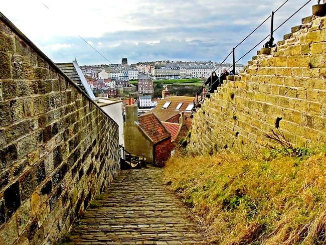 Steps Sky Steps And Staircases Outdoors No People Architecture The Way Forward Staircase Day Whitby North Yorkshire Whitby Abby Beauty In Nature EyeEmNewHere Nature Medieval History Steps