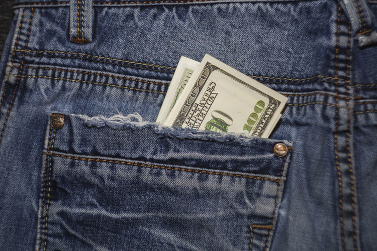American 100 dollar bills in the back pocket of blue jeans Blue Jeans 100 Dollars Banknotes Business Currency Jeans Background Banking Banknote Bill Blue Cash Coin Dollars Finance Hundred Dollars Jeans Money Money In Pocket Pocket  Savings Success