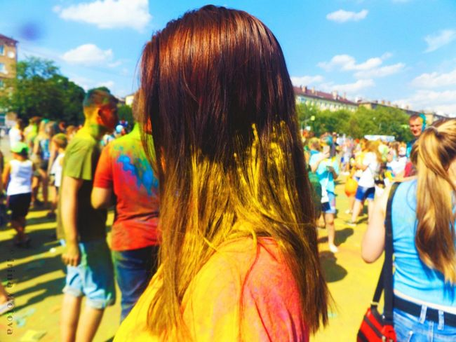 Summer Summertime Girl Happiness Friend Colors Colorful Yellow Festival Holi Festival Holi Festival Of Colours Yellow Color Colours