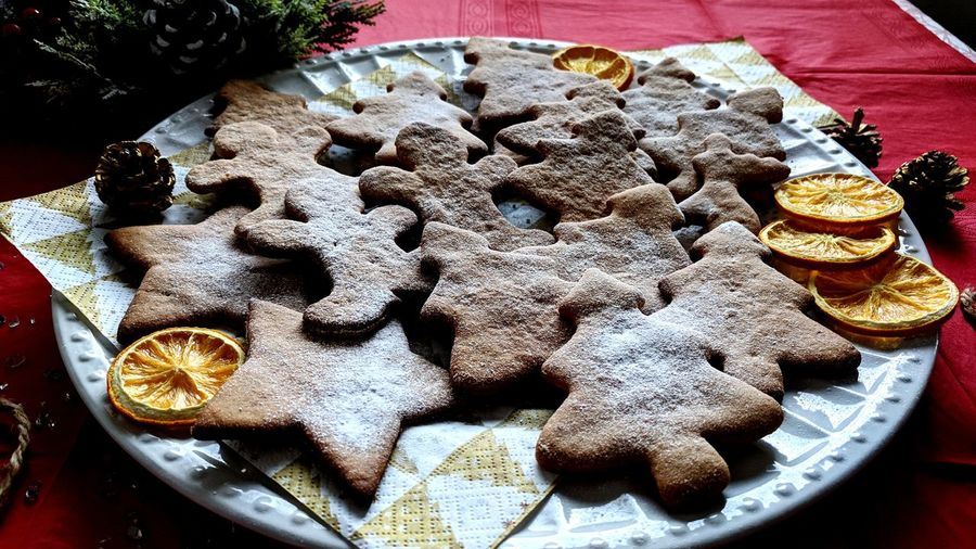 Christmas cookies Gingerbread Christmas Decoration New Year Christmas Time Ginger Gingerbread Cookie Healthy Eating Ready-to-eat Freshness Day