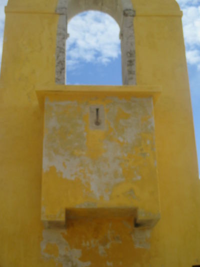 Architecture Building Exterior Built Structure Close-up Day Decay Destroyed Buildings Fortress Wall Indoors  Low Angle View Monument No People Old Buildings Old Fortress Old Wall Peniche Portugal Resisting The Time Ruin Sky Sky Through The Fortress Stability The Past Window Yellow Yellow Wall