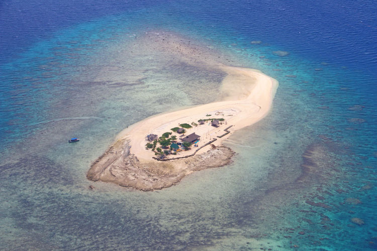 Desert island All Alone Isolated Pacific Aerial View Beach Beauty In Nature Blue Fiji High Angle View Island Land Nature No People Ocean One House Outdoors Paradise Peaceful Sand Scenics - Nature Sea Sky Tranquil Scene Tranquility Water