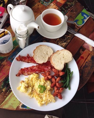 Breakfast Food And Drink Morningtea Food Freshness Ready-to-eat Plate Table Indoors  First Eyeem Photo