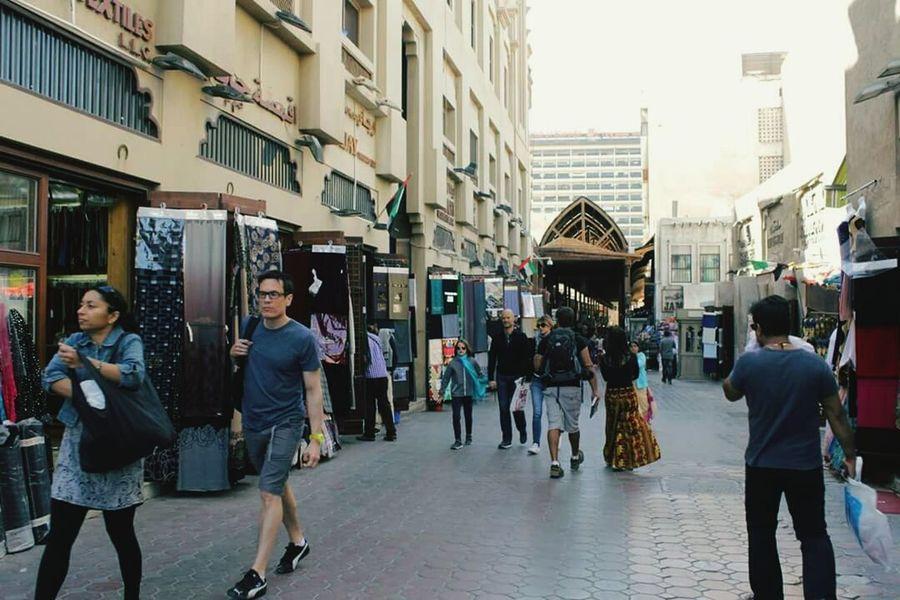 Walking Outdoors Day Old Dubai Tourists And Locals Street Photography Livingindubai Market Local Market