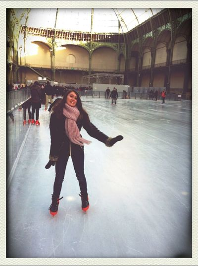 Patinage au Grand Palais.