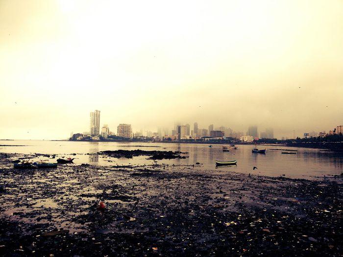 MumbaiDiaries Seashore Sunset Tall Building Clouds And Sky