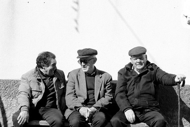 Friendship Hat Sitting Adults Only Only Men People Small Group Of People Togetherness Men Portrait Day Outdoors Streetphotography Street Calabria South Italy