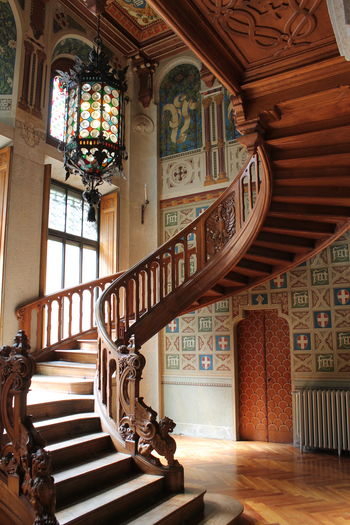 Architecture Built Structure Castle Day Frainf History Home Interior Indoors  Italy No People Ornate Place Of Worship Railing Savoia's Castle Staircase Stairs Steps Steps And Staircases Valle D'aosta