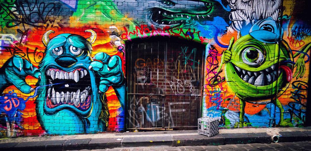 Graffiti Multi Colored Art And Craft Street Art Creativity Door Day Outdoors Architecture Painted Image No People Ghetto Australia Straya MelburnCity Melbourne Melbourne City City The Week On EyeEm WeekOnEyeEm ArtWork Art Urban Creativity Art And Craft