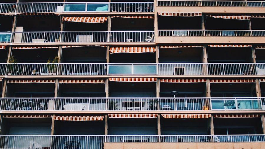 Full frame shot of balcony