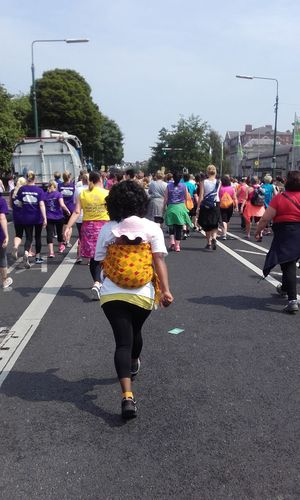 The Following this happened on May Bank holiday monday 6/6/2016 whete there was a Women's Mini Marathon 10km. Following the crowd. Marathon Vhi Mini Marathon Dublin Ireland Women Mother & Daughter Strong Woman Strong Girl Power Bonding Mother Love The Portraitist - 2016 EyeEm Awards The Photojournalist - 2016 EyeEm Awards Walking Taking Photos Essence Of Summer The Essence Of Summer Dublin, Ireland
