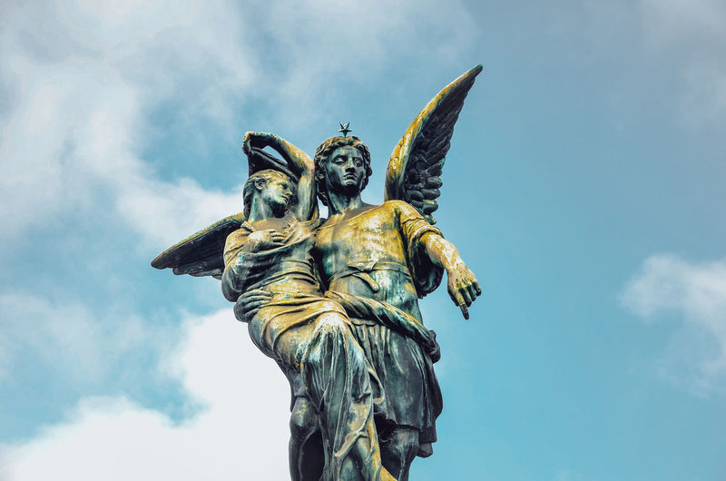 A day in the land of the dead Angels Sky And Clouds Statue Angel Angle Art And Craft Buenosaires Cloud - Sky Craft Creativity Day Female Likeness Human Representation Low Angle View Male Likeness Nature No People Outdoors Religion Representation Sculpture Sky Spirituality