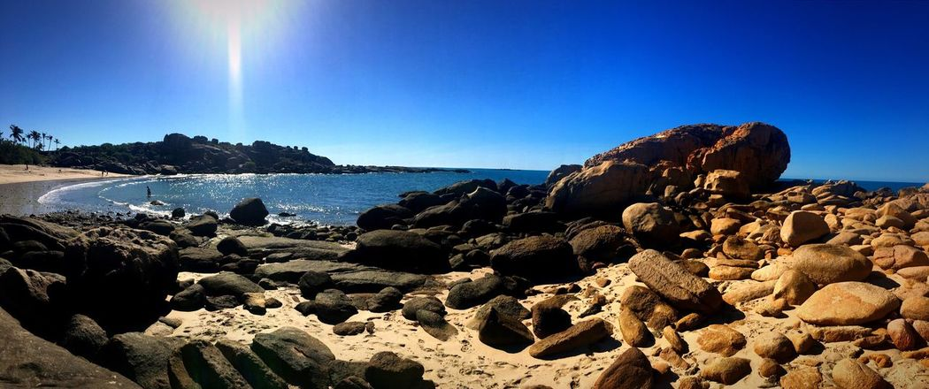 Bowen 👌🏼😍 Sea Blue Nature Beauty In Nature Sky Beach Water Tranquility Bowen Queensland Picopouce Photooftheday Travel Destinations Australia Landscape Landscape_Collection Landscape_photography Rock Rocks And Water Sea And Sky Bowenrocks