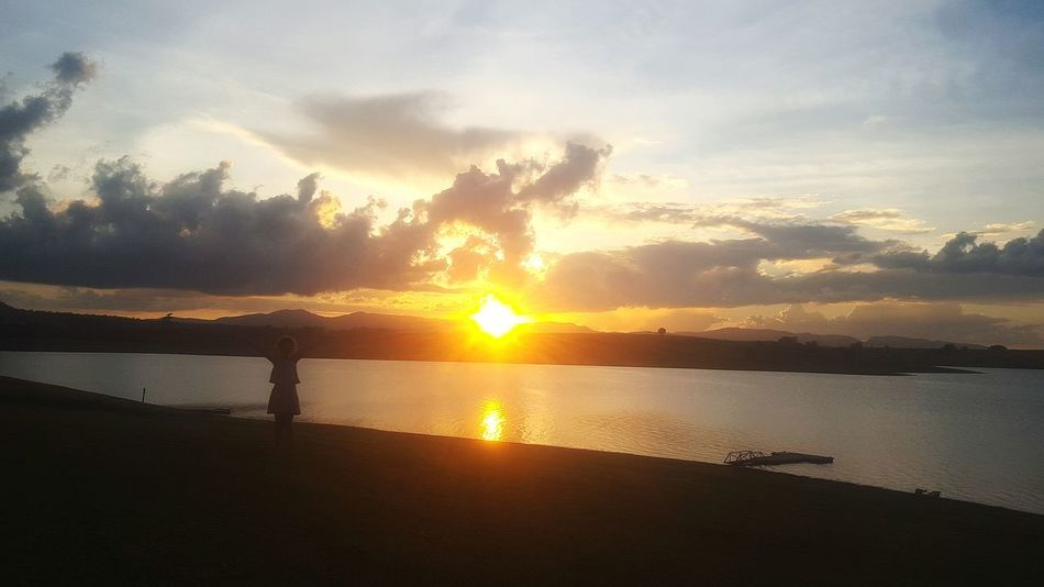 Beautiful Sunset Sunset Silhouettes Sunsetlover Lake Tinaroo Yungaburra