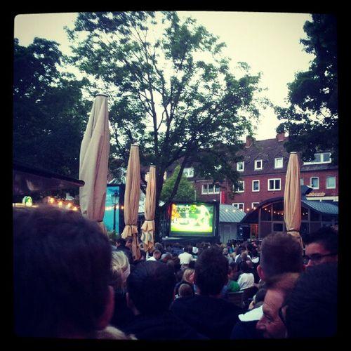 Public viewing in Emden // Ned - Ger EURO2012