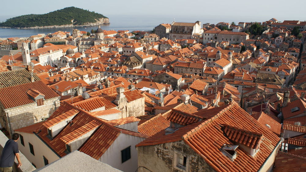Dubrovnik Architecture Building Exterior Built Structure Cityscape Crowded Day House Residential Building Roof Sky Tiled Roof  Town