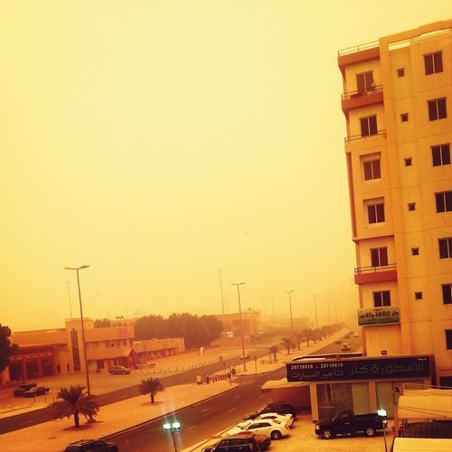 Kuwait dust in the atmosphere