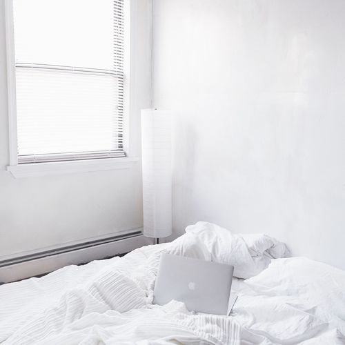 Yesterday I left early from work, only to take this photo of my place. It's kind of hard to take good daylight photos at winter time. I've the feeling only to be at home when it's dark. Newyork Light Light And Shadow Architecture Whitenyc Bed Cozy Sunlight Daylight