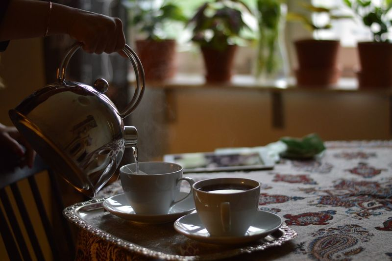 Tea for two Food And Drink Refreshment Coffee Cup Table Coffee - Drink Drink Food Stories Indoors  Close-up Day Focus On Foreground Food