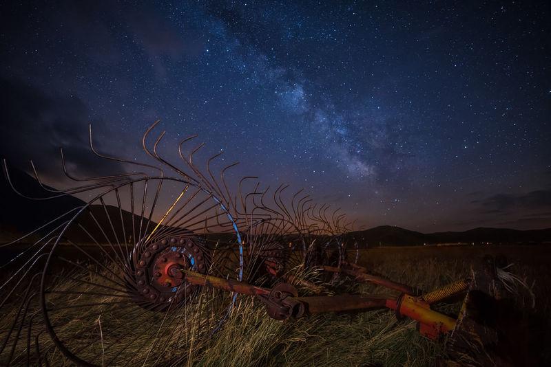 milkyway wheels Blue Sky Darksky Learn & Shoot: After Dark Milkyway Night Nightphotography Sky Stars Wheel Under The Milky Way Blue Wave