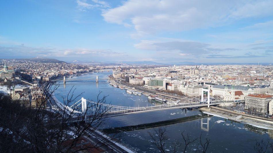 Duna Buda Pest Budapest Hungary Sony SLT-A58 Winter Brige Brige Photo White Brige Camstudio Hungary