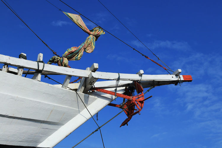 Low angle view of tradisional ship against sky