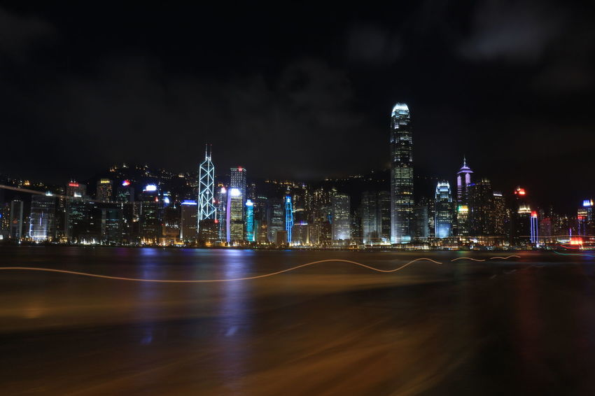 It's my first long-exposure photo from my first camera Canon 700D. #hongkong #longexposure #nightshot
