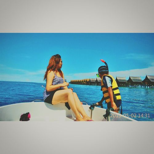 Mataking island, Sabah Borneo Islandgirl Relaxing Taking Photos Enjoying Life