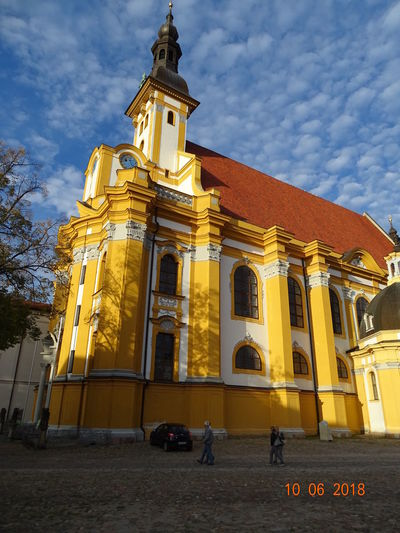katholische Kirche Frankfurt/ Oder City Place Of Worship Spirituality Religion Politics And Government Business Finance And Industry Gold Colored History Sky Architecture