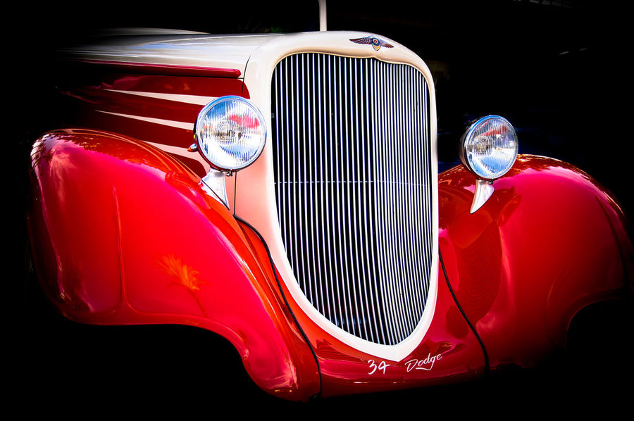 Antique car Check This Out Taking Photos Highway 10 Custom Cars 1934 Dodge On The Road automobiles Red