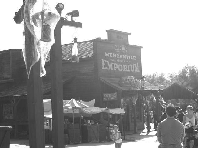 The Wild West Portaventura Theme Park Old-fashioned Blackandwhite Photography Taking Photos Salou Spain Catalunya