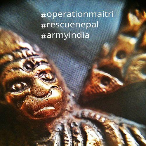 Time to pray... IndianArmy Operationmaitri Nepal Nepalgram People EarthquakeNepal BJPIndia