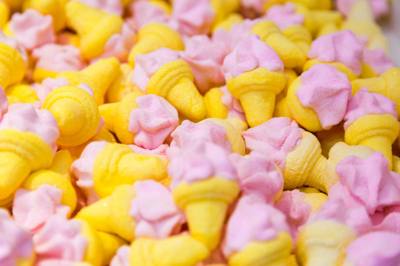 Little yellow pink sweets in ice cream shape lay flat full frame cover Pink Sugar Abundance Backgrounds Candy Close-up Food Food And Drink Freshness Full Frame Ice Cream Indulgence Large Group Of Objects Selective Focus Snack Still Life Sweet Sweet Food Temptation Treat Unhealthy Eating Vivid Colors Wellbeing Yellow Yellow Color