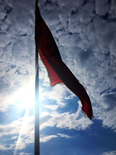 Albanian Naturelovers 👐 Flag Cloud - Sky Sky Patriotism Low Angle View Red Day No People Outdoors Nature Blue Sky Wind Landscape Beauty In Nature Eagle Nature Red Albania Patriotism Red&black Freshness