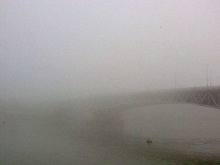 Should be seen the other side. Danube River Distant First Eyeem Photo Fog Gate In Budapest No People