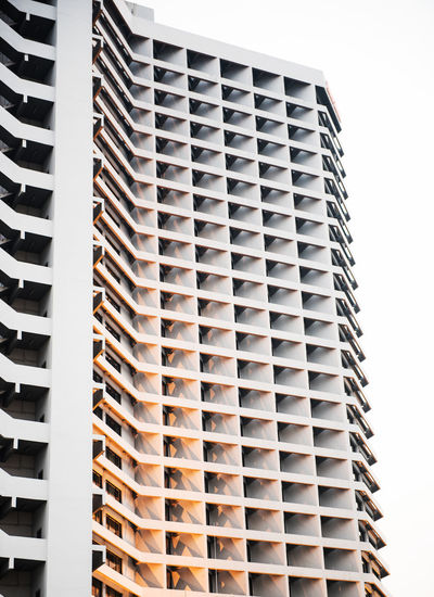 square pattern windows high building structured Architecture Bangkok City High Square Thailand Aligned Building Exterior Creative Design Outdoors Pattern Structured Sunset Tower Windows